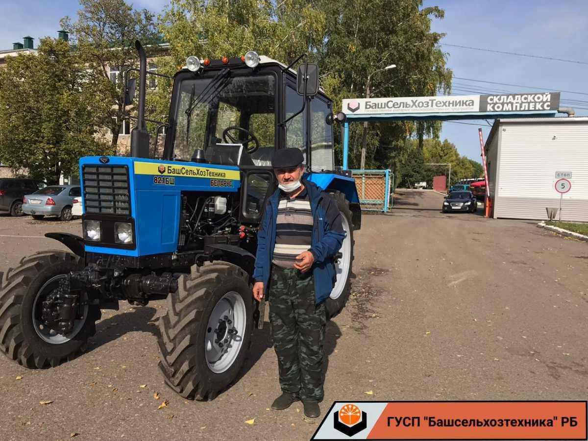 Сегодня ГУСП «Башсельхозтехника» РБ реализовало трактор МТЗ 82.1 БШ.