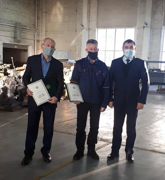 Сегодня поздравили наших коллег с юбилеями- с 60-летием Флюр Минигалеевича Янбарисова и с 50 -летием Ришат Фанзировича Масалимова